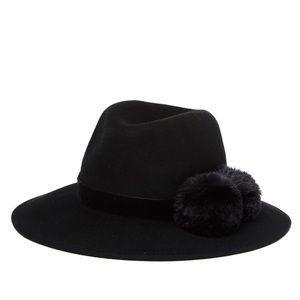 Faux Fur Pompom Panama Hat